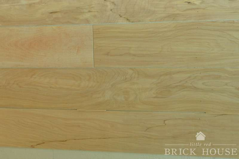 shiplap planks on the wall with spacers