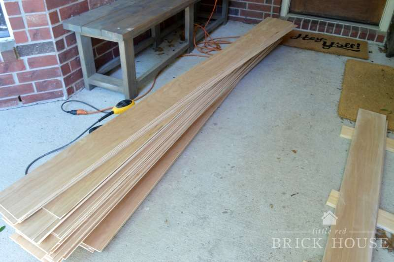 shiplap planks cut to size