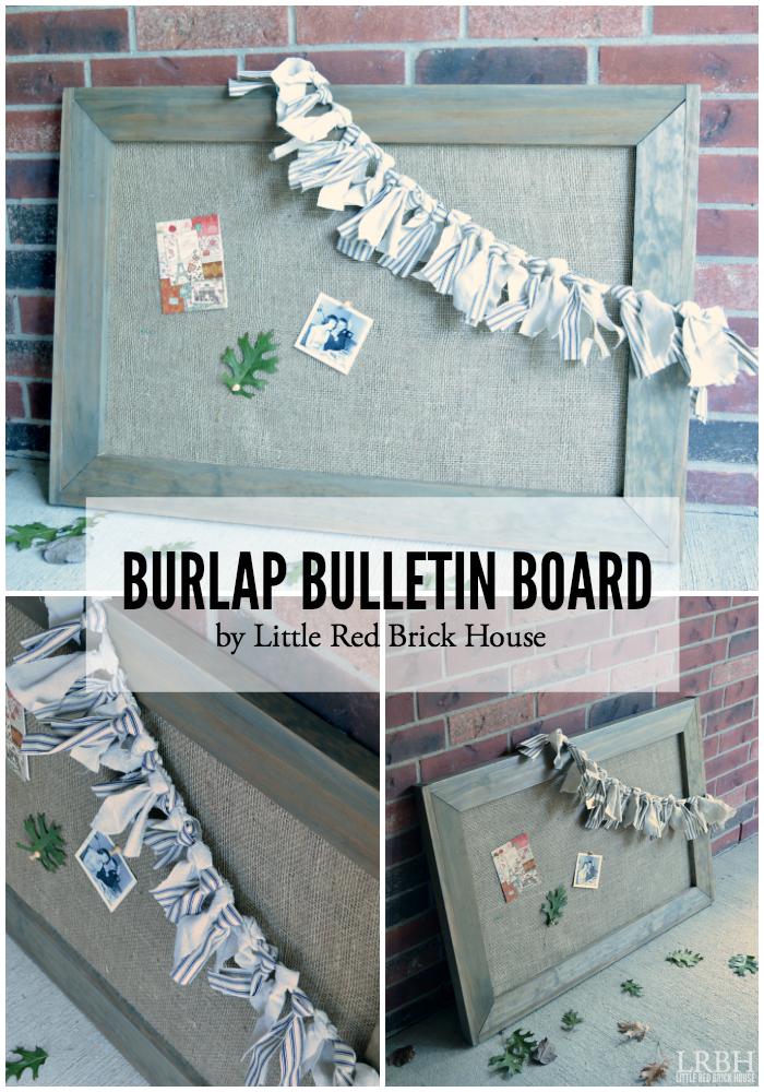 Burlap Bulletin Board | LITTLE RED BRICK HOUSE