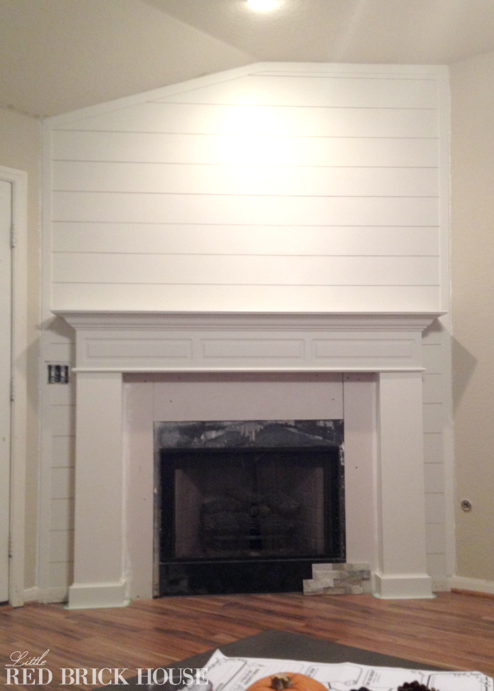 Fireplace Makeover: Planked Wall Tutorial