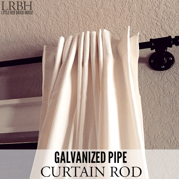 Galvanized Pipe Curtain Rod assembled PINTEREST FEATURE