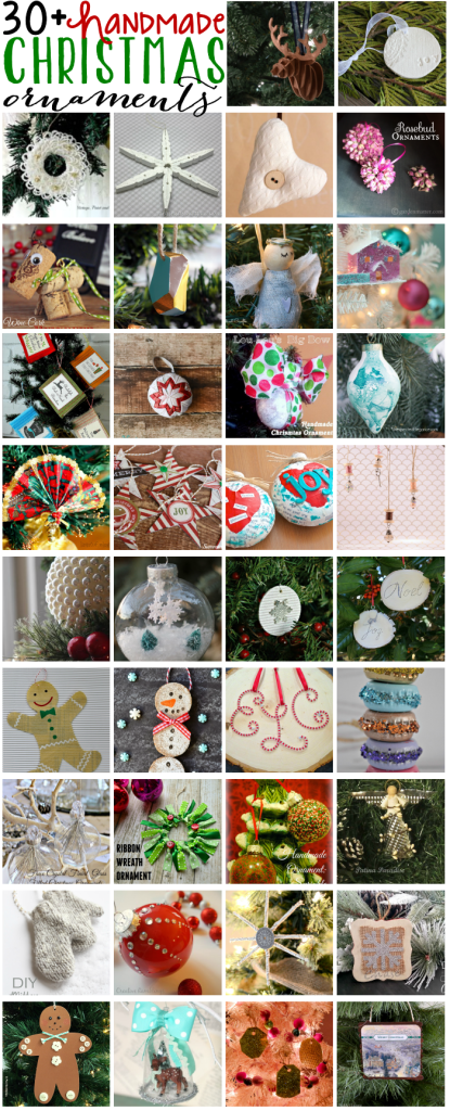 Handmade Christms Ornaments Blog Hop