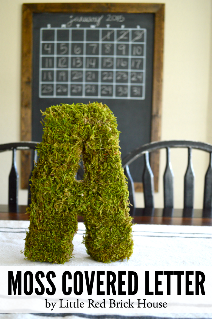Moss Covered Letter | LITTLE RED BRICK HOUSE