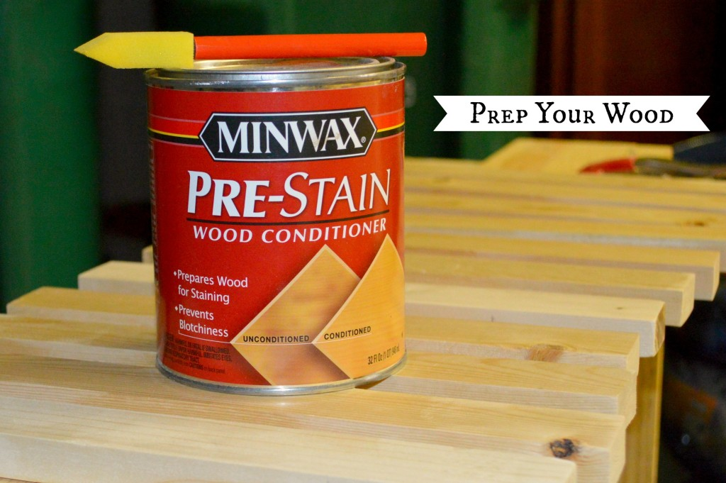 Prep your wood
