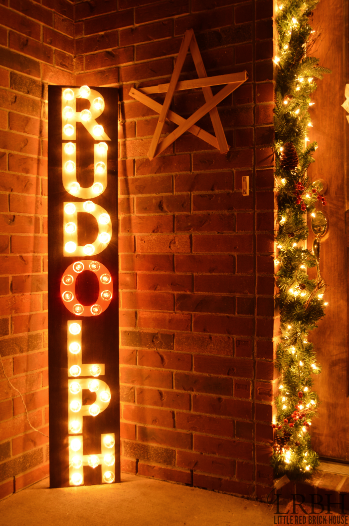 DIY Rudolph Marquee Sign | LITTLE RED BRICK HOUSE