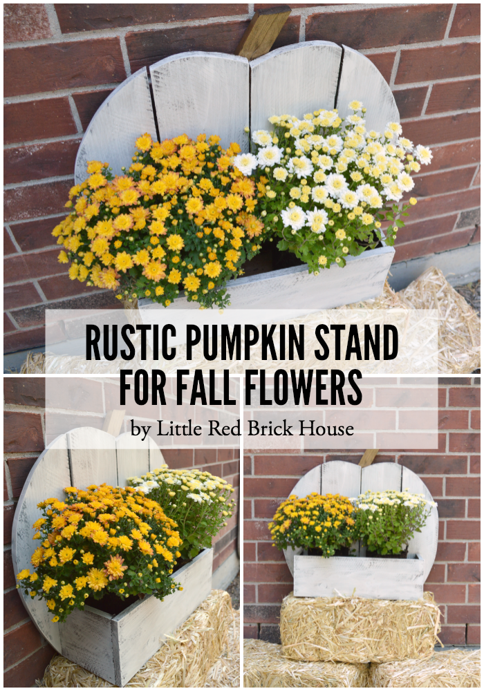 Rustic Pumpkin Stand for Fall Flowers | LITTLE RED BRICK HOUSE