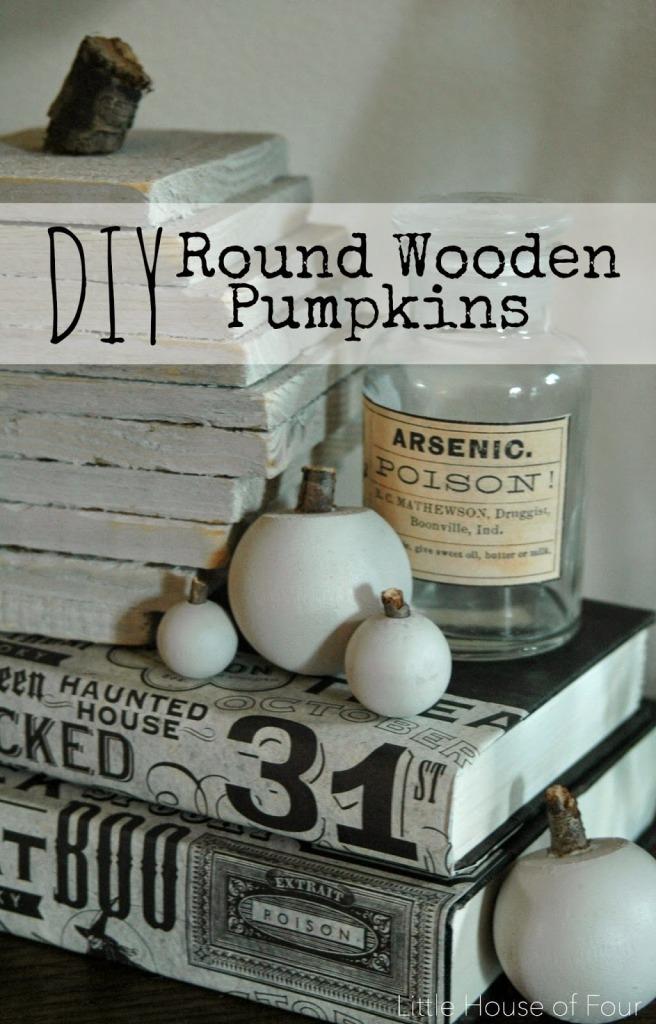 diy round wooden pumpkins
