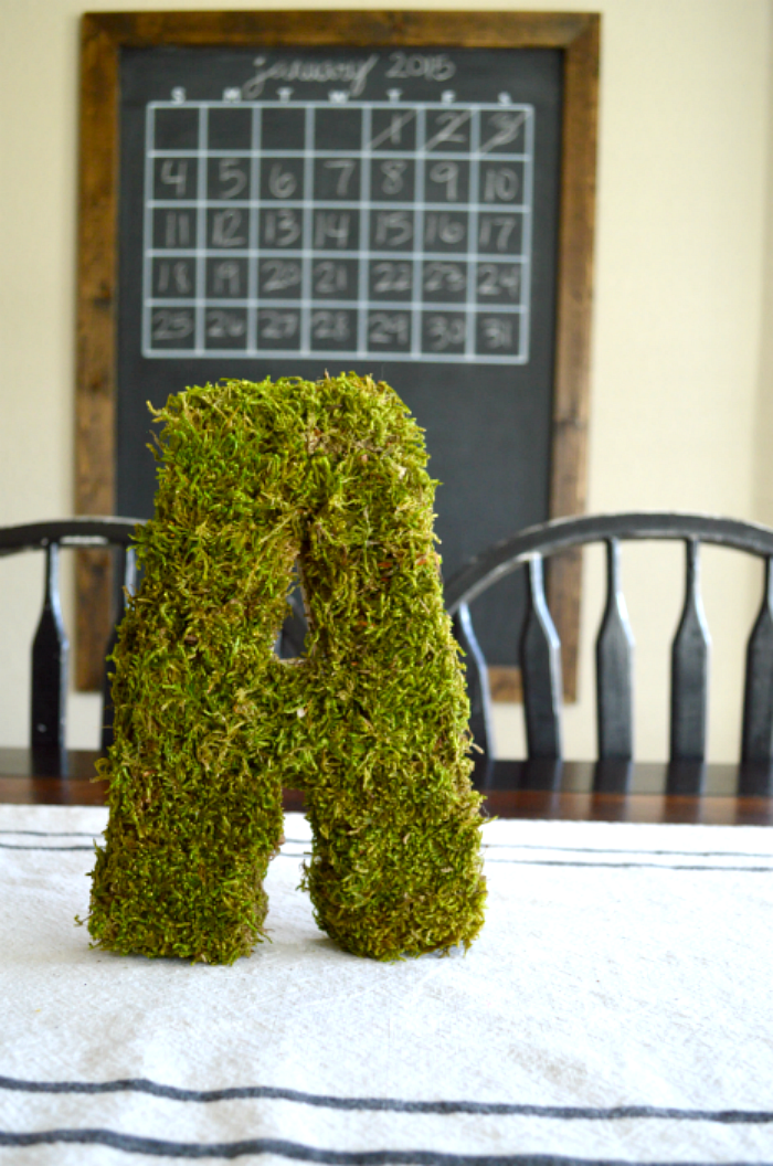Moss Covered Letters | LITTLE RED BRICK HOUSE