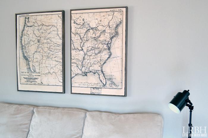 Framed Map Art | LITTLE RED BRICK HOUSE
