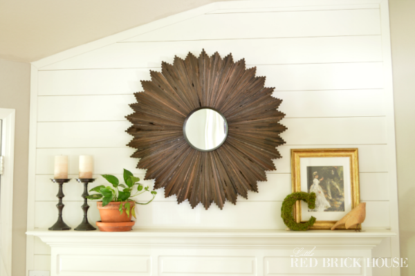 DIY Sunburst Mirror | Little Red Brick House