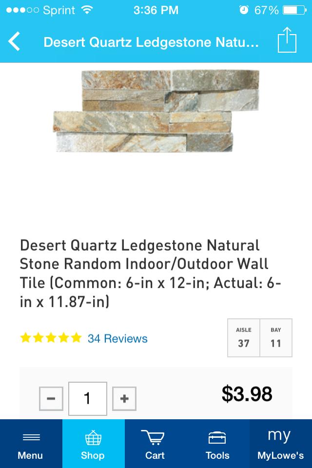 Lowe's Desert Quartz Veneer